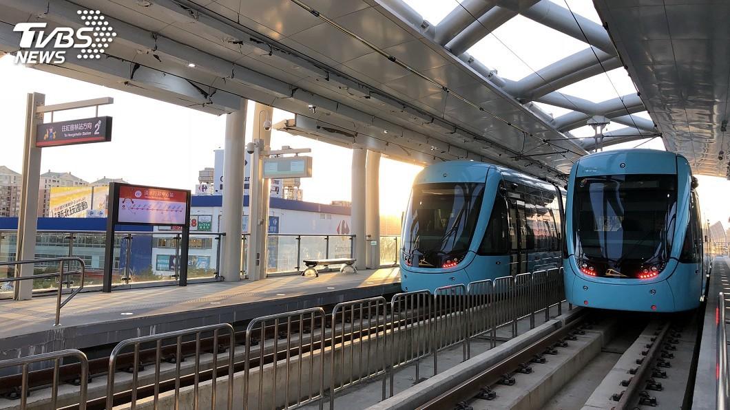 圖/中央社 淡海輕軌綠山線通車 後續藍海線建構觀光網