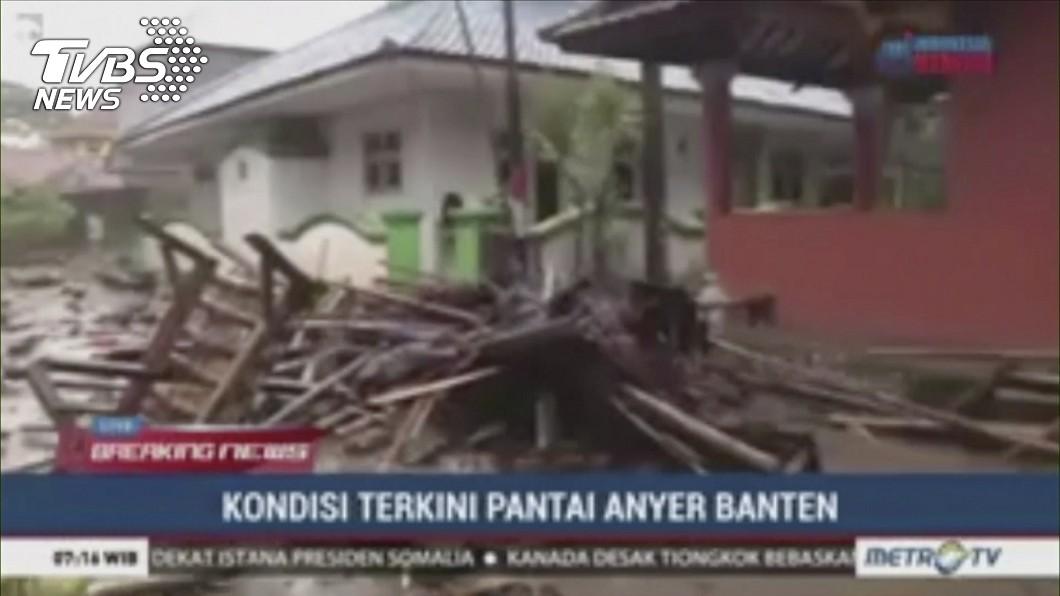 印尼昨日遭海嘯夜襲,死傷慘重。圖/達志影像美聯社 印尼海嘯死傷慘重 專家稱:基隆也曾發生