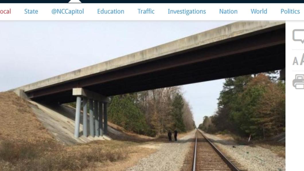 圖/翻攝自WRAL 男逃票躲火車頂 過橋慘遭斷頭「到車站剩殘肢」