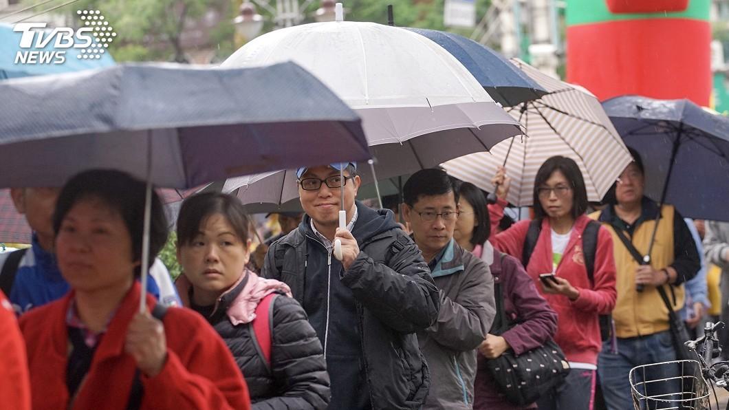 圖/中央社 水氣減弱太快!今有雨變沒雨 下周這天竟「難預測」