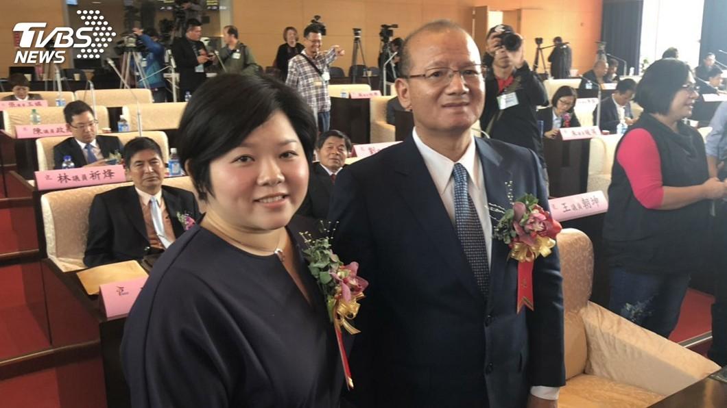 圖/中央社 台中市議會正副議長 張清照、顏莉敏當選