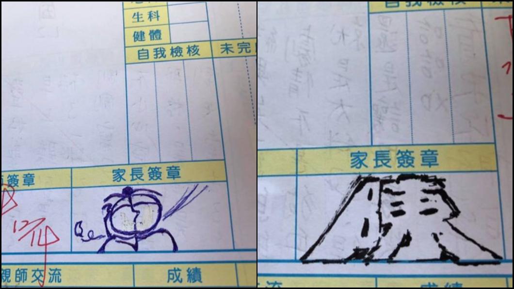圖/翻攝Dcard 學生爸爸超狂簽名 網驚嘆:被社會耽誤的藝術家!