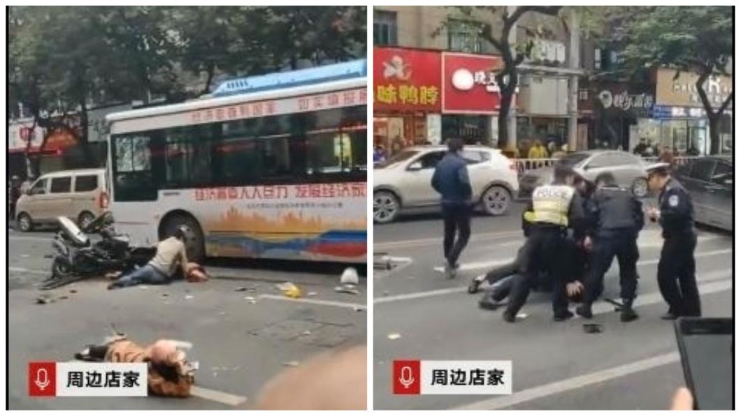這場車禍一共造成5死21傷,警方已經將嫌犯逮捕。(圖/翻攝自秒拍)