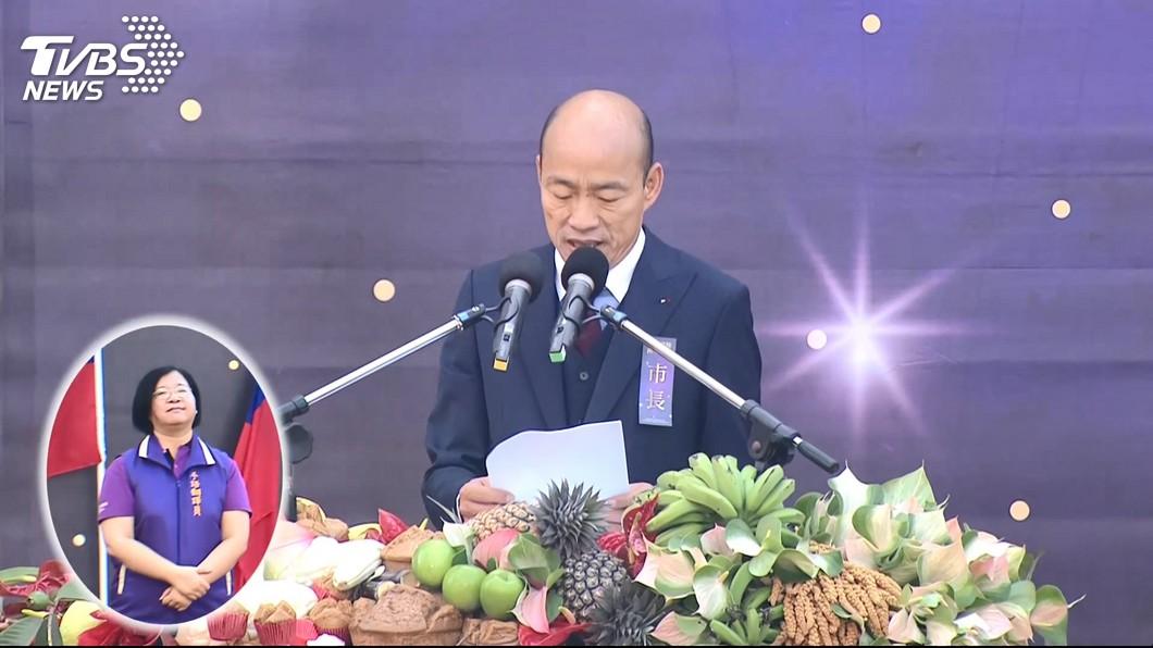 韓國瑜就職演說。圖/TVBS