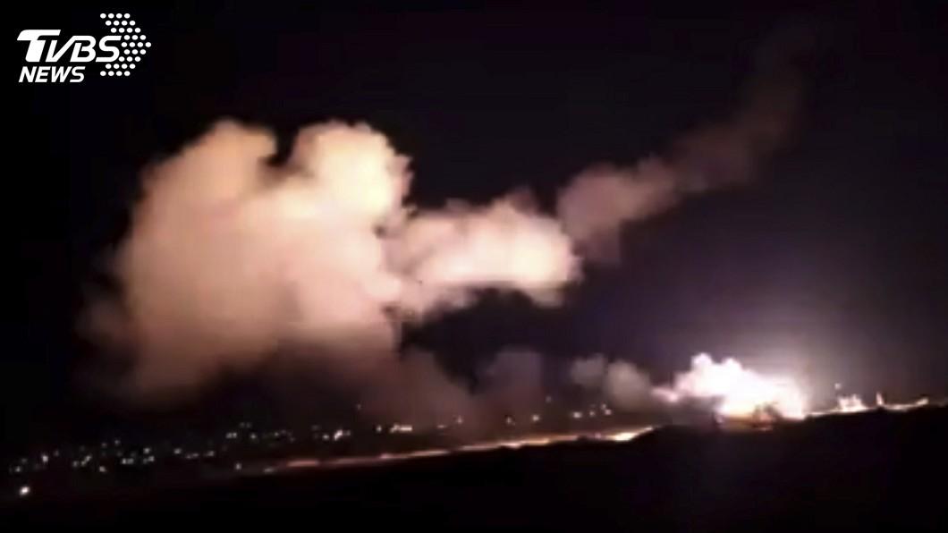 圖/達志影像美聯社 以色列空襲大馬士革附近目標 敘利亞3軍人傷