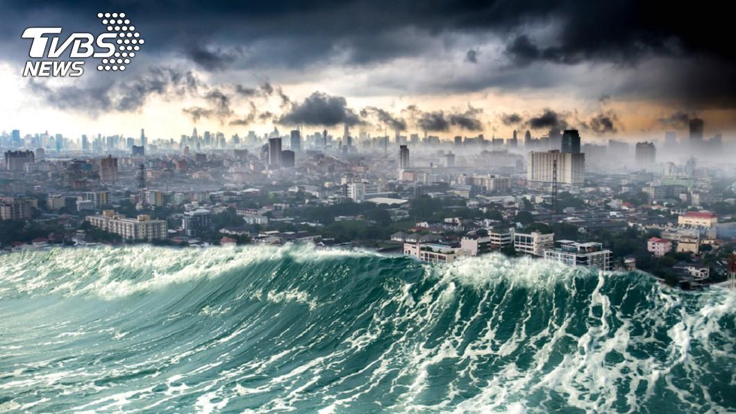 海嘯示意圖。圖/TVBS