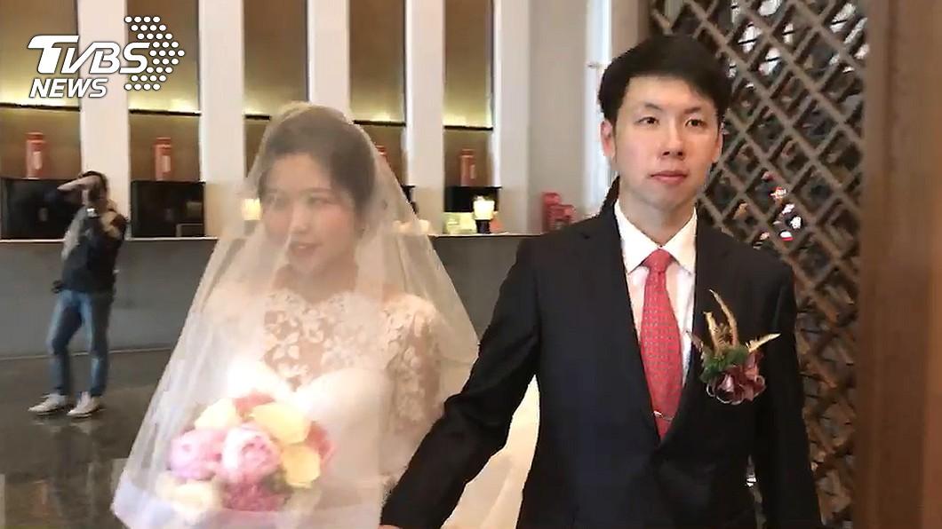 圖/TVBS 賴清德媳婦甜笑曝光!兒迎娶闖5關 喊:我準備好了