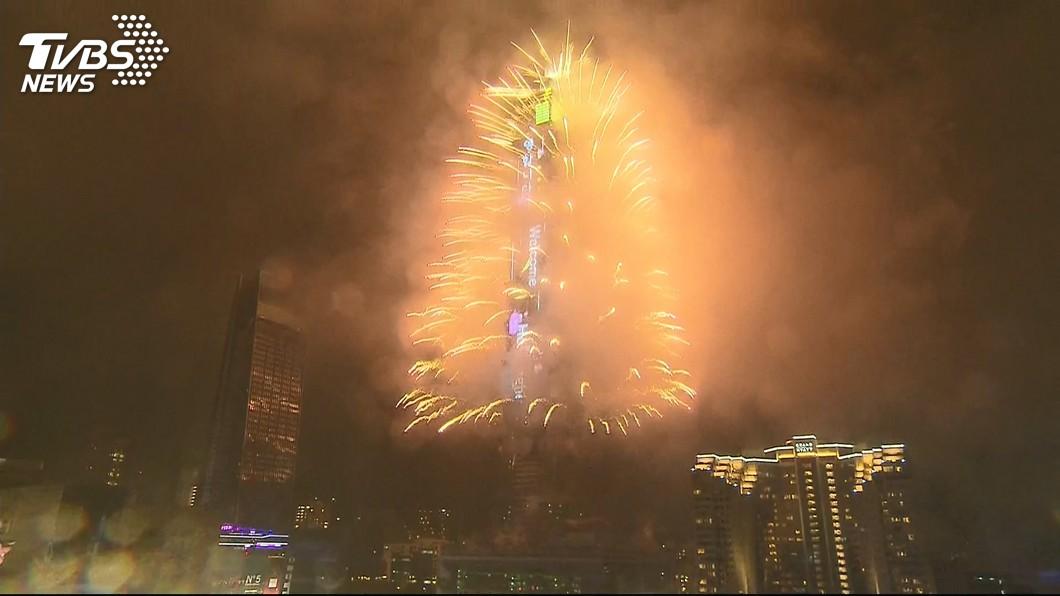 圖/TVBS資料畫面 準備設置跨年煙火 101戶外觀景台23日起關閉