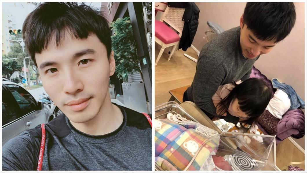 圖/翻攝自阿緯臉書 百億千金誕下元旦寶寶 阿緯親自接生「腿軟了」