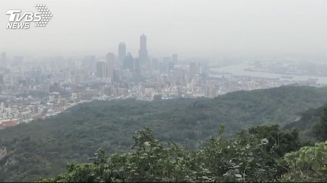 示意圖/TVBS 颱風外圍下沉氣流影響 西半部空氣品質亮橘燈