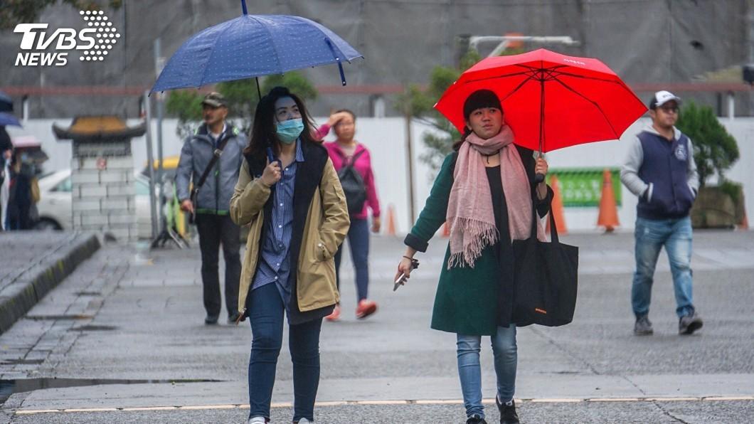 圖/中央社 最低溫9.1度!明晚「全台再轉雨」 下波冷氣團接力到