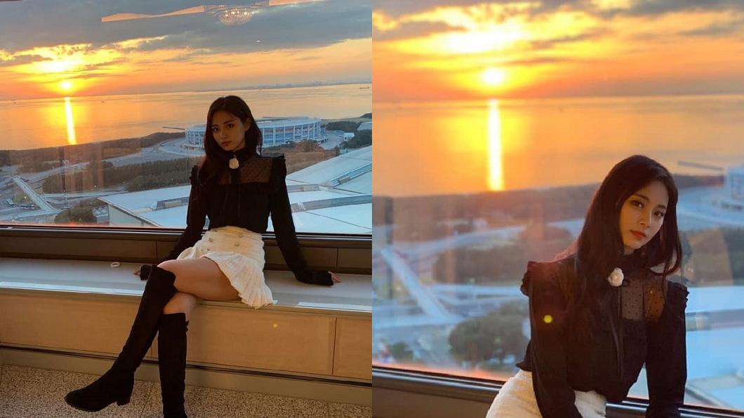 周子瑜PO出一系列美照,向粉絲拜年。圖/翻攝自TWICE IG