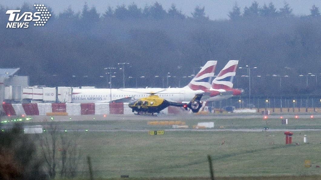 圖/達志影像美聯社 無人機打亂航班 倫敦機場添軍事等級設備反制