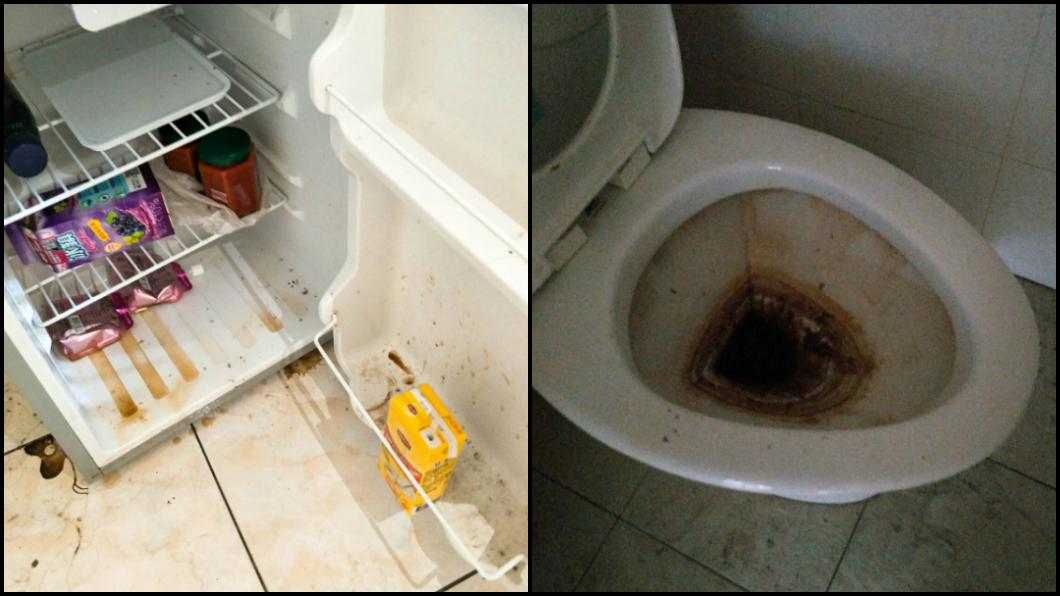 遭斷水斷電後,房子內腐臭味瀰漫。圖/TVBS