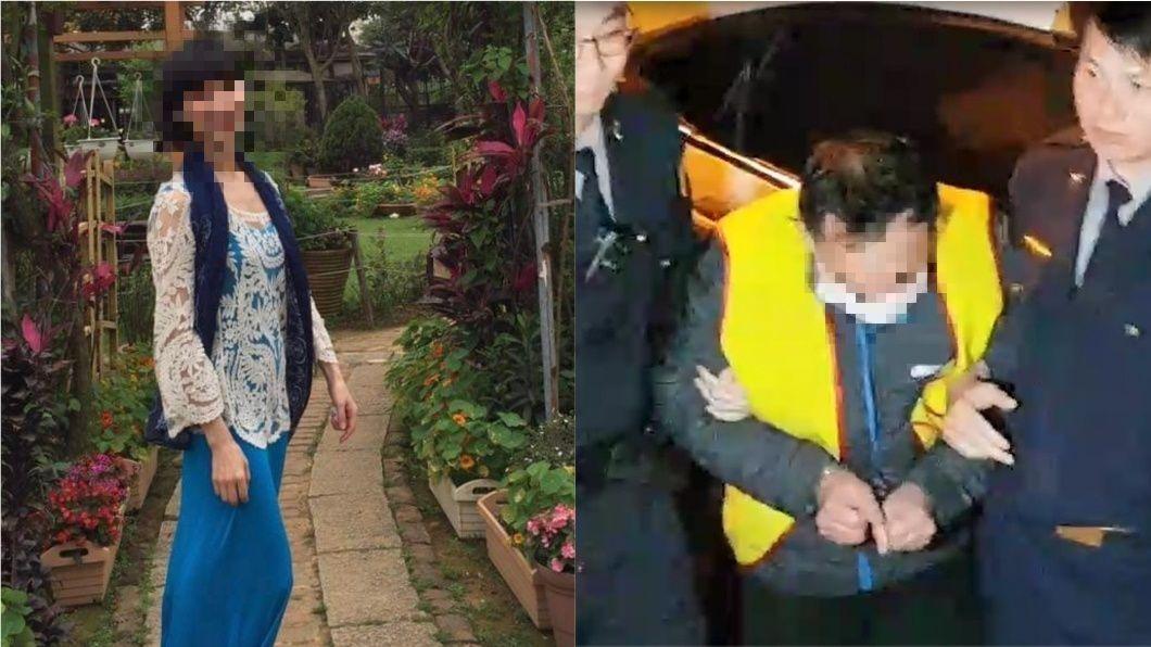 簡姓死者(左)為國內航空公司座艙長,與丈夫(右)疑似正在談判離婚釀殺機。圖/TVBS