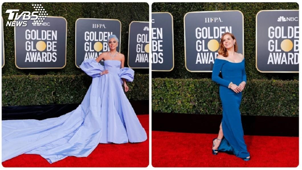 圖/達志影像路透社 金球獎紅毯 女神卡卡、艾美亞當斯等女星爭艷吸睛