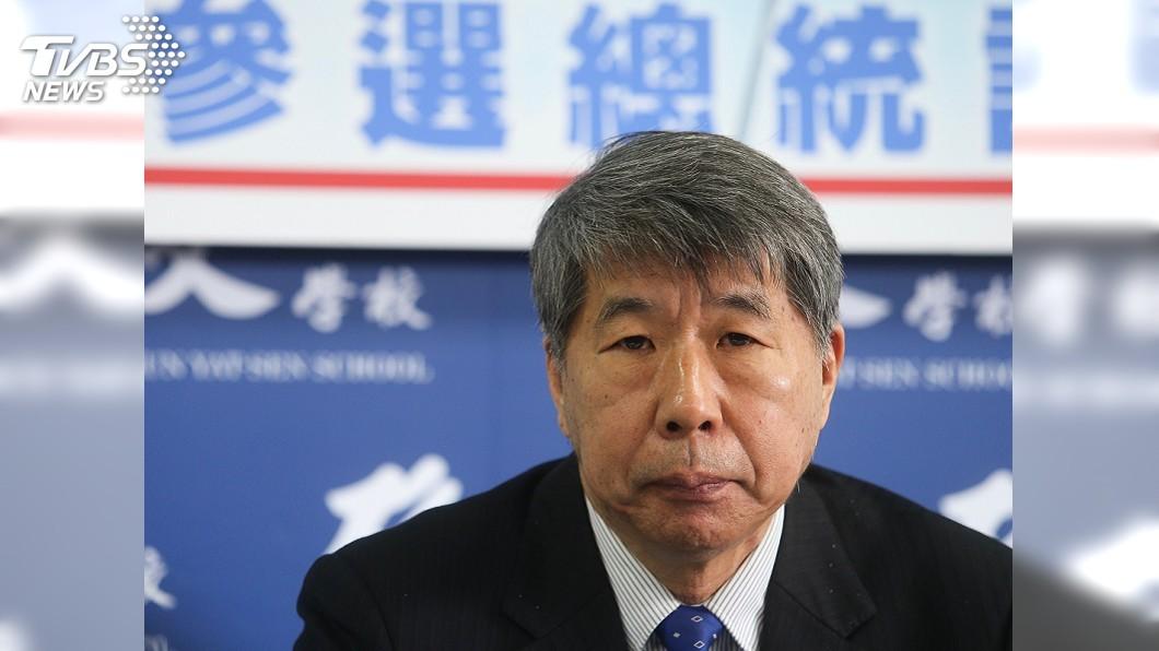 圖/中央社 提兩岸分治不分裂 張亞中表態參選2020總統