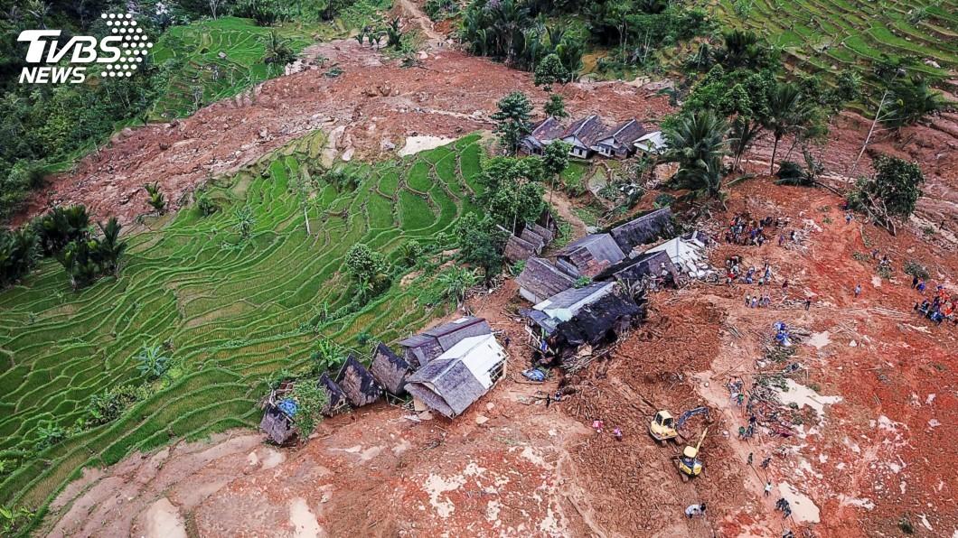 圖/達志影像路透社 印尼跨年夜土石流搜索任務結束 32死1人未尋獲