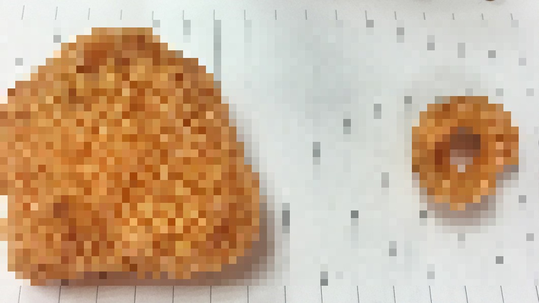 圖/翻攝自 PTT 經典零食「浮誇7倍大」 網一比笑翻:根本蝦餅
