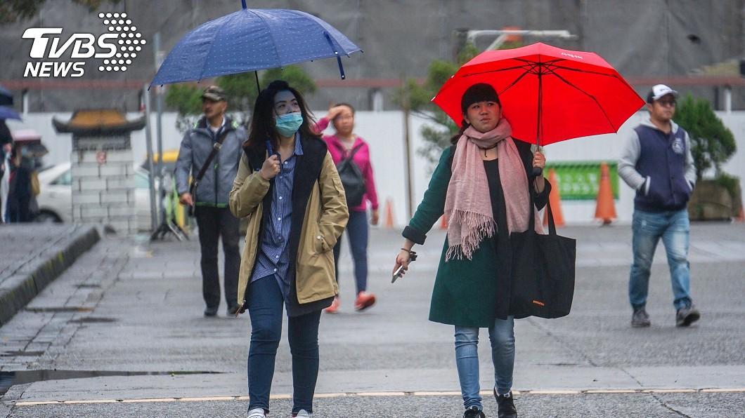 示意圖/TVBS 快訊/低溫探12度!今全台有雨 明趨緩、周二轉晴