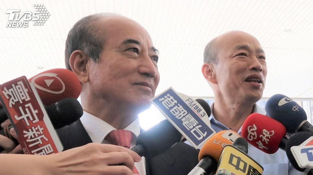 前立法院王金平(左)、高雄市長韓國瑜(右)圖/TVBS資料照 韓國瑜表態「I do」 王金平:人各有志笑笑就好