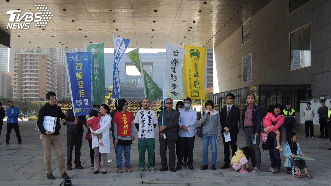 圖/中央社 環團訴求公布空污物暴露評估報告 中市府協調