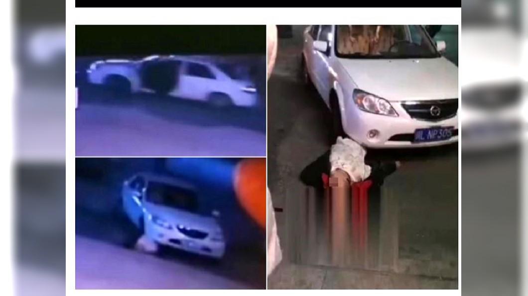 中國大陸四川省一名男子,疑似是為了停車,意外遭自己的車輾死。(圖/翻攝自詩華日報) 死神來了?他開車開到把自己輾死 網驚:這是命
