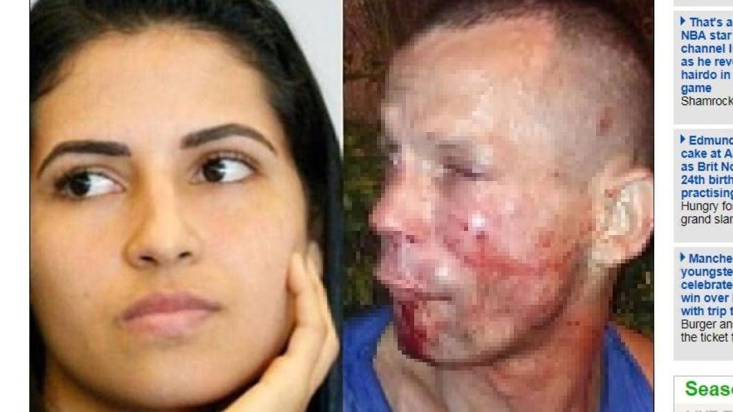 翻攝/每日郵報 惹錯人!男子搶劫反被打成「豬頭滿臉血」 女:只K兩拳