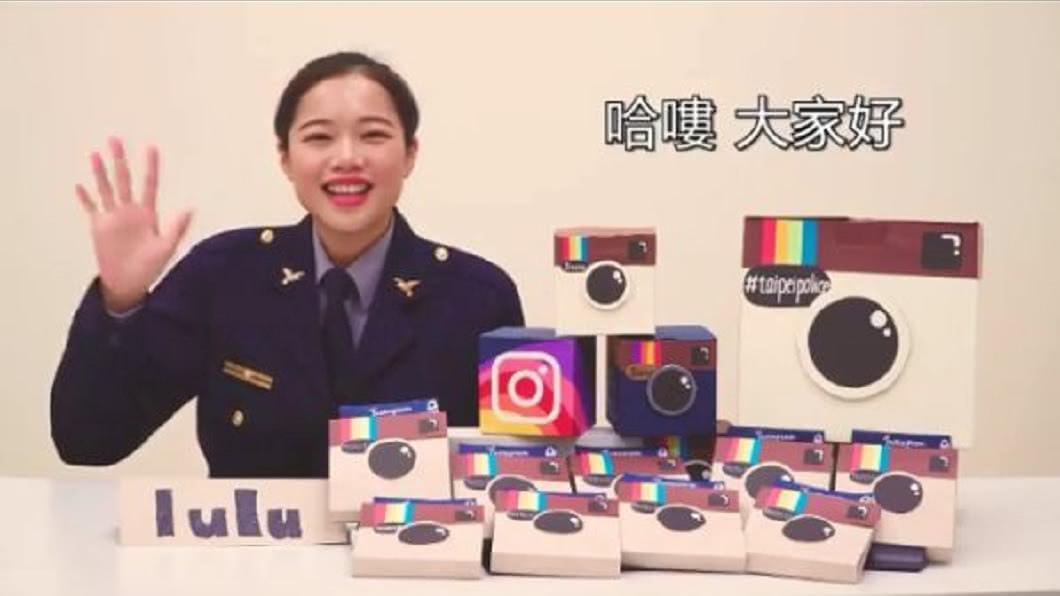陳韋如日前幫台北市警局拍攝宣導影片。(圖/翻攝自IG)