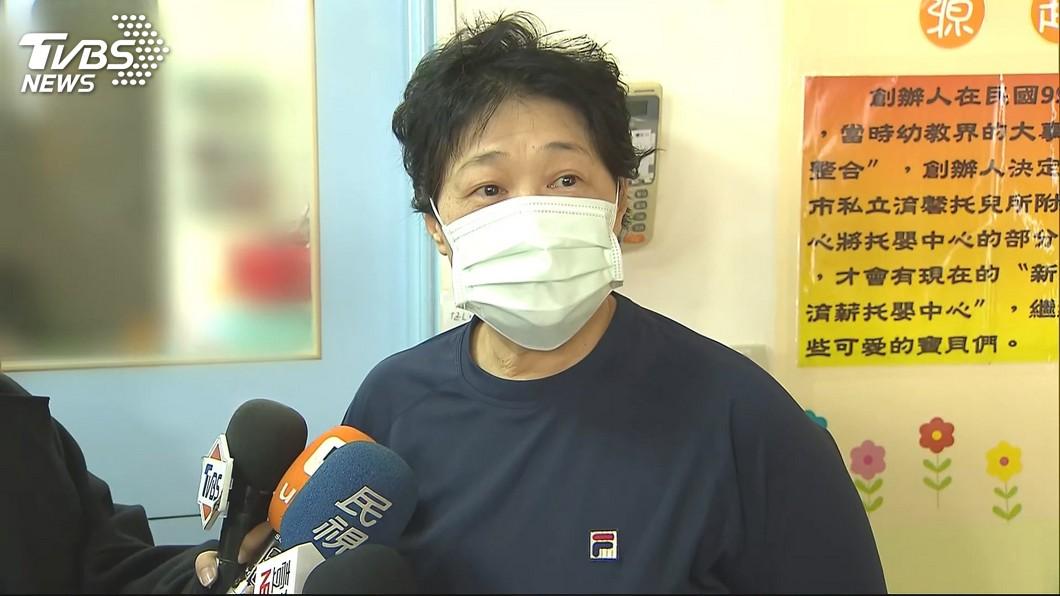 施暴者之一的托嬰中心主任。圖/TVBS 打腳底板、塞櫃子! 施暴主任嗆:都道歉了還想怎樣?
