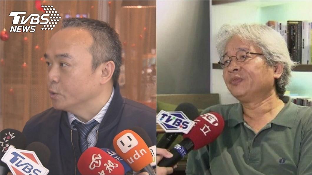 作家馮光遠(右)在臉書上嗆潘「人品差」,潘恆旭(左)立刻反擊喊告。圖/TVBS 潘恆旭被嗆「人品差」喊告 馮光遠再補刀:他不是個咖