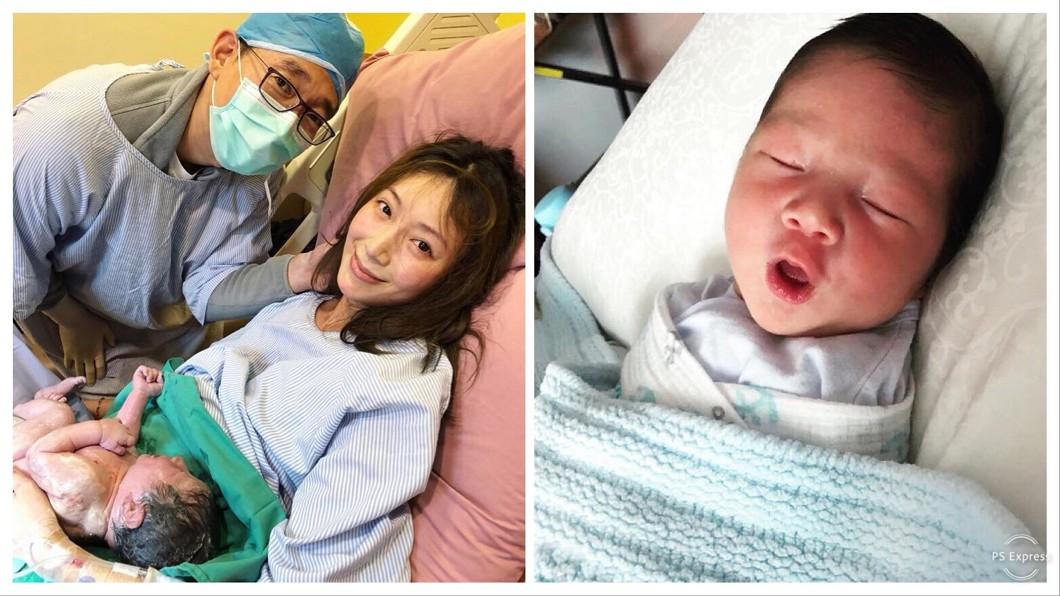 圖/翻攝自隋棠臉書 隋棠驚險催生16小時 爆兒子一出生「鎖骨就骨折」
