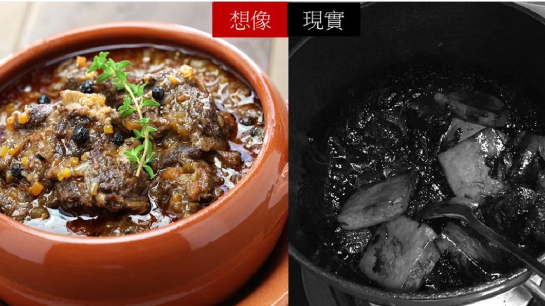 圖經拼圖與上字。圖/(左)TVBS示意圖,(右)翻攝臉書爆怨公社 人妻滷肉變巫婆毒湯!網笑噴:濃縮再濃縮
