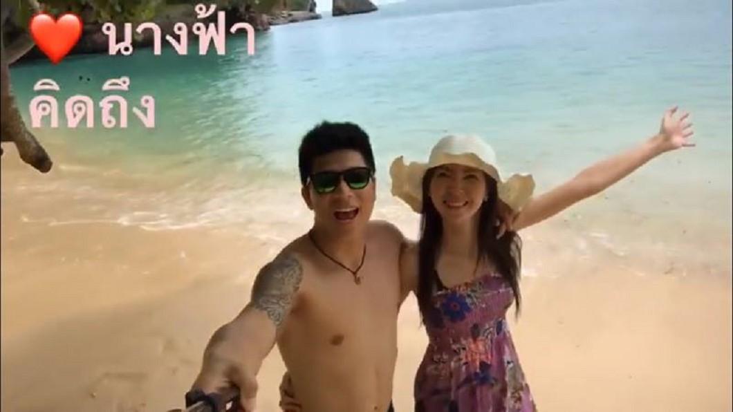 黛兒在病前與庫克同遊各地。圖/泰國網臉書