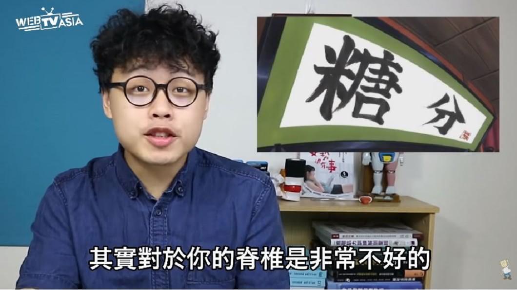 三個字SunGuts表示,曾有一名學生長期盤腿坐造成椎間盤突出。圖/翻攝自YouTube「三個字SunGuts」