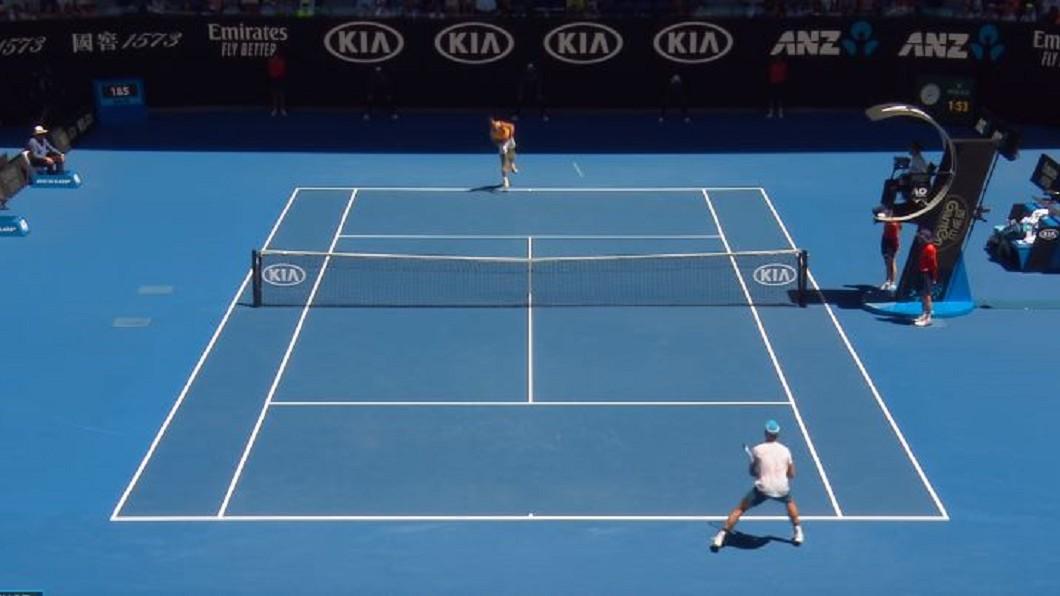 圖/翻攝自Australian Open TV YouTube