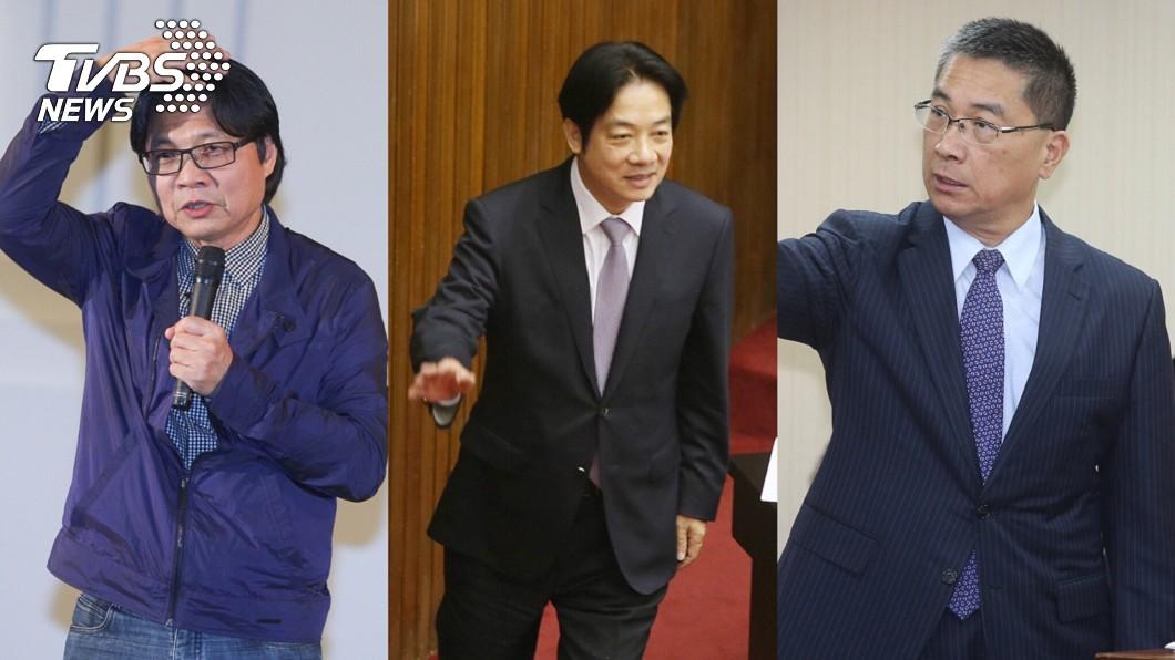 網路聲量、好評度排行名單。由左至右為葉俊榮、賴清德、徐國勇。圖/TVBS 賴揆內閣總體檢!最終網路聲量、好評度排名出爐