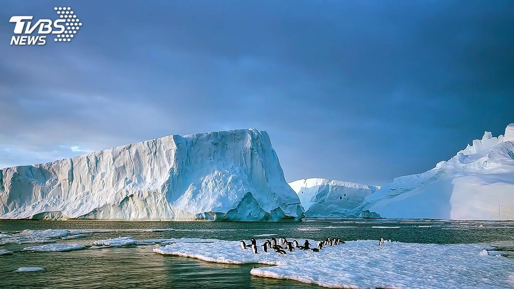 暖化加劇南極融冰量。圖/TVBS 二氧化碳濃度300萬年來最高! 專家慌:要失控了