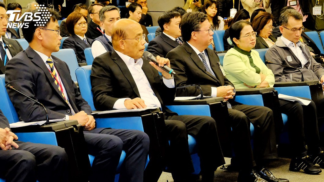 圖/中央社 要求防疫再加強 蘇貞昌澄清:並沒有發脾氣