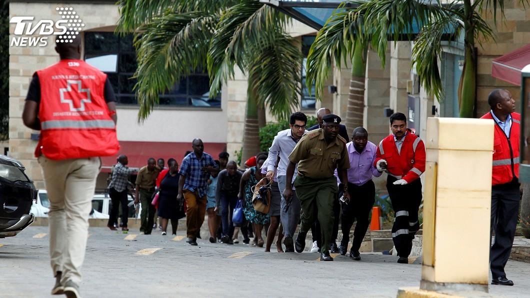 圖/達志影像路透社 肯亞飯店建築群遇襲 受困民眾傳訊呼救