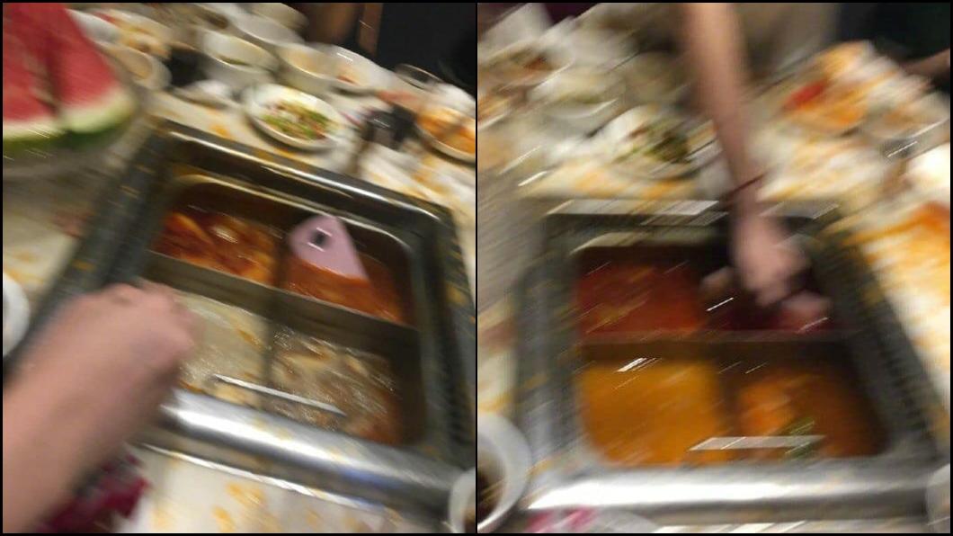 圖/翻攝微博 網美手殘自拍器甩入鍋 下秒徒手撈「整隻燙成豬腳」