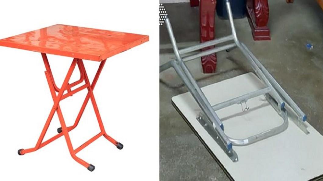 標檢局表示,折疊桌椅最快在半年內列為應施檢驗商品。合成圖/TVBS 業者噤聲!女童死換摺疊商品列檢 標檢局:半年內通過