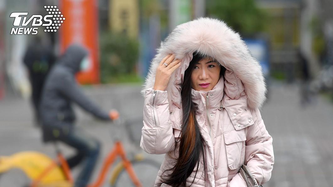 圖/中央社 入冬最強!冷氣團週日到 「11度凍5天」這時會下雨