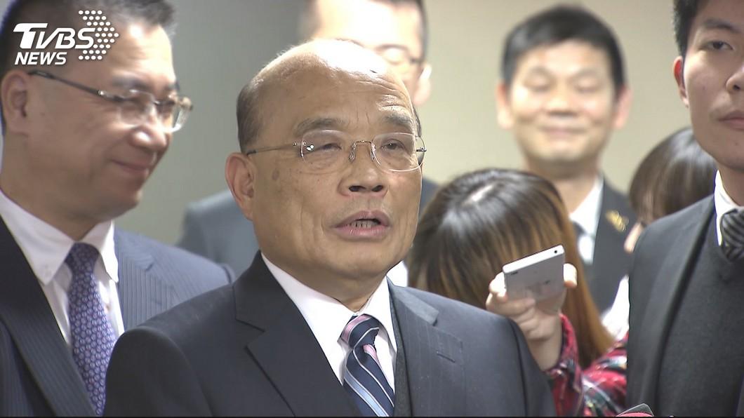 行政院長蘇貞昌。圖/TVBS 高鐵有今日樣貌 蘇貞昌:要謝謝民進黨