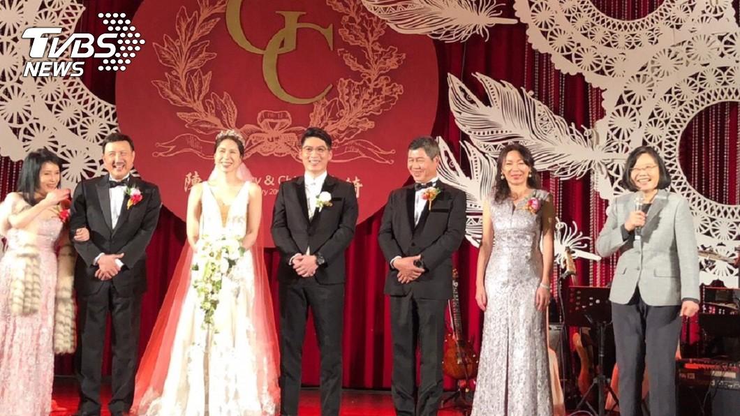 圖/TVBS 余天風光嫁女 小英總統親自到場公告證婚