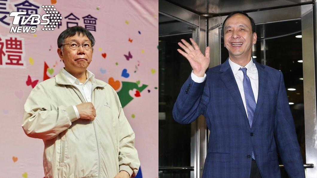 朱立倫(右)認為柯文哲(左)是台灣很強、非常重要的領導人。圖/中央社 朱立倫:柯文哲是台灣非常重要的領導人