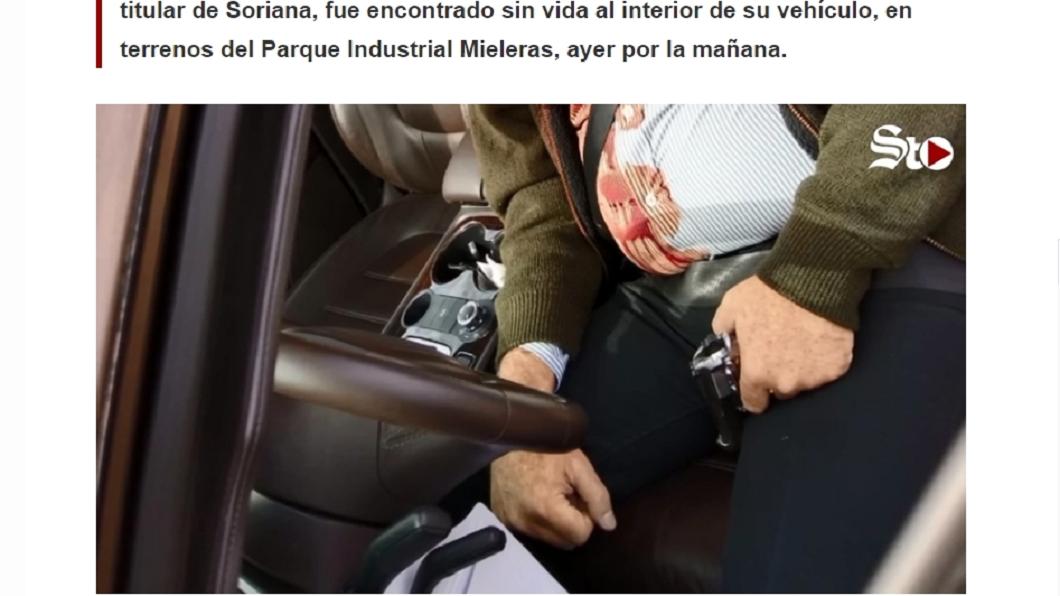 墨西哥富商被發現在車內自轟身亡。圖/翻攝自elsiglodetorreon網站 億萬富商自轟身亡 疑「被自殺」案情不單純