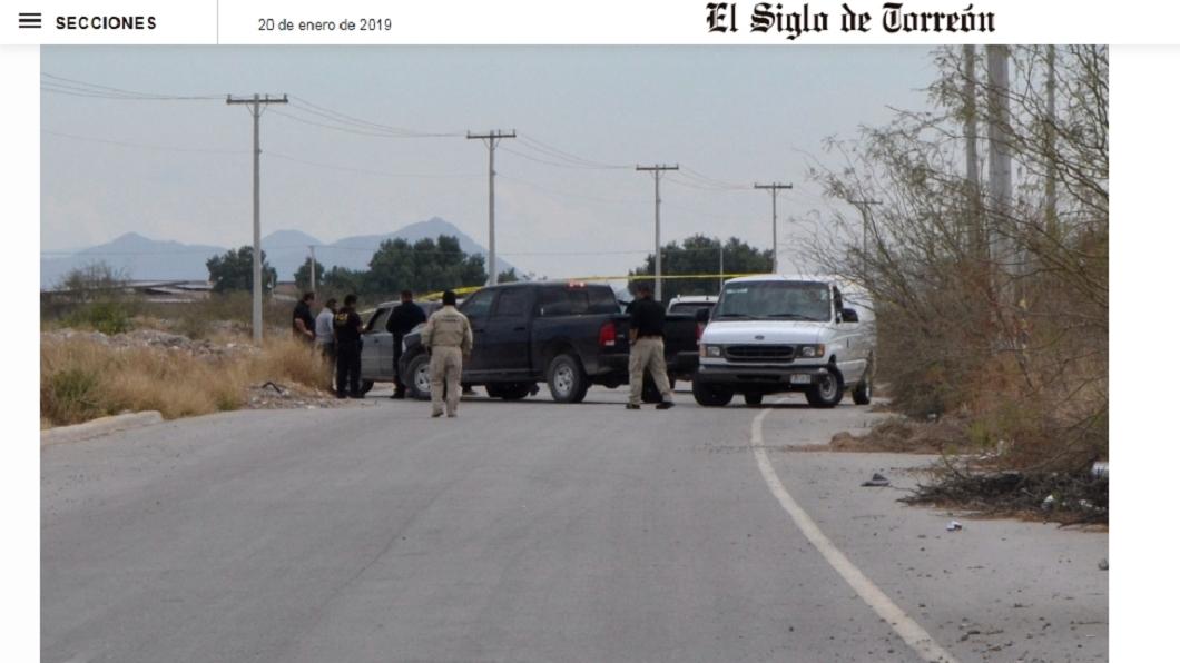 墨西哥富商被發現在車內自轟身亡。圖/翻攝自elsiglodetorreon網站