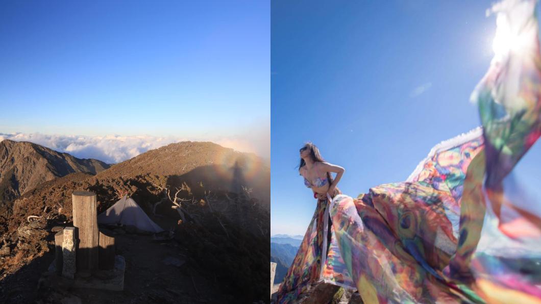 圖/翻攝自G哥比基尼的高山足跡臉書 比基尼登山客罹難遭批評 龍應台嘆:台灣山海未解嚴