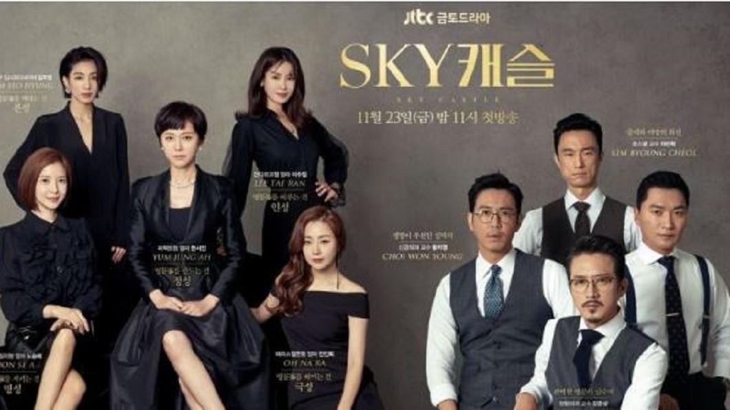 韓劇《SKY Castle天空之城》劇照。圖/翻攝自韓星網臉書 《天空之城》停播鄉民怨念發威 韓國無緣亞洲盃四強